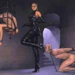 Sex training in femdom comics